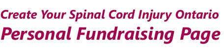 Create your Spinal Cord Injury Fundraising Page